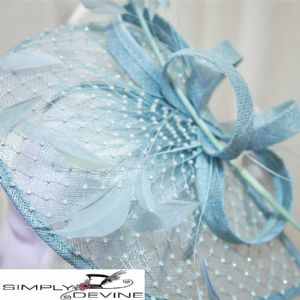 Baby blue sparkly hatinator SN1281